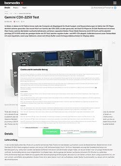 Bonedo.de Gemini CDX-2250 Test
