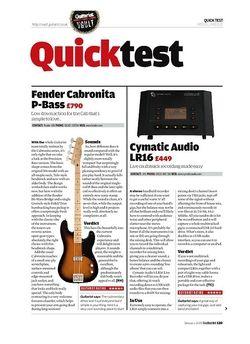 Guitarist Squier Vintage Modified Bass VI