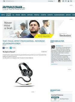 Amazona.de Test: Focal Spirit Professional, Referenz-Studiokopfhörer