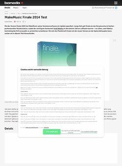 Bonedo.de MakeMusic Finale 2014