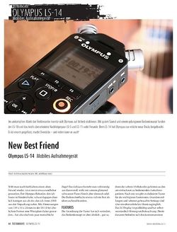 Sound & Recording Olympus LS-14 - Handy Recorder