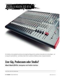 Sound & Recording Allen & Heath ZED R16 - analoger Mixer mit FireWire-Interface