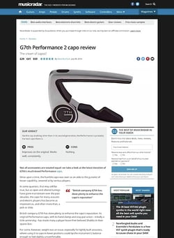 MusicRadar.com G7th Performance 2 capo
