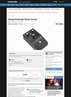 MusicRadar.com Moog Minifooger Boost