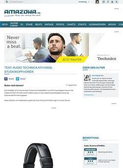 Amazona.de Test: Audio Technica ATH-M50x, Studiokopfhörer
