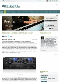 Amazona.de Test: Gemini CDX-2250, Doppel CD-Player