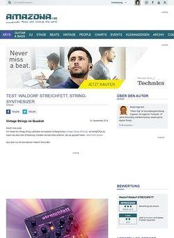 Amazona.de Test: Waldorf Streichfett, String-Synthesizer