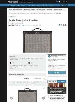 MusicRadar.com Fender Blues Junior III