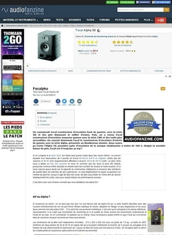 Audiofanzine.com Focal Alpha 50