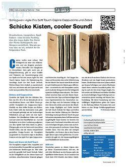 Drumheads Schlagwerk Agile Pro Soft Touch Cajons Cappuccino und Zebra
