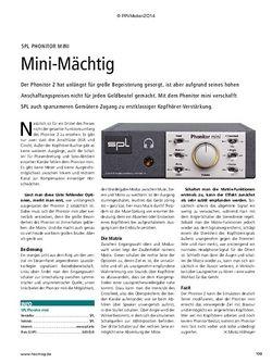 Recording Magazin SPL Phonitor mini