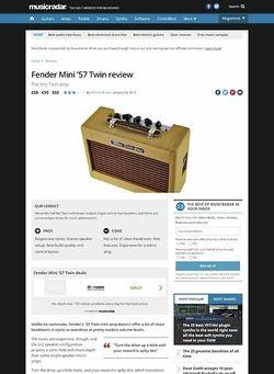 MusicRadar.com Fender Mini '57 Twin