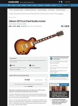 MusicRadar.com Gibson 2015 Les Paul Studio