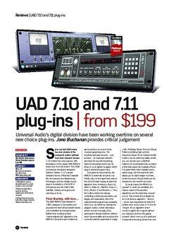 Future Music UAD 7.10 and 7.11 plug-ins