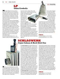 Sticks Schlagwerk Cajon Cabasa & Heck Stick One