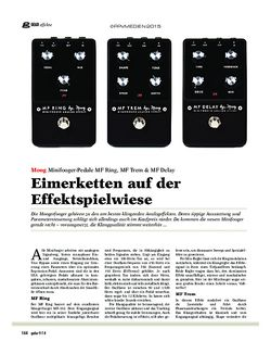 Guitar Moog MF Ring, MF Trem & MF Delay