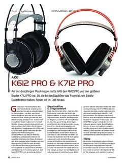 KEYS AKG K612 PRO & K712 PRO