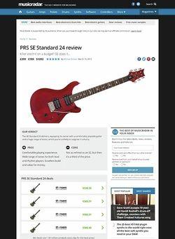 MusicRadar.com PRS SE Standard 24