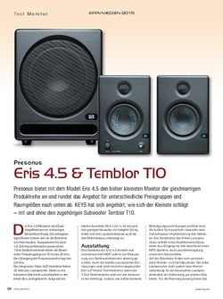 KEYS Presonus Eris 4.5 & Temblor T10