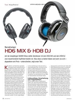 KEYS Sennheiser HD6 MIX & HD8 DJ