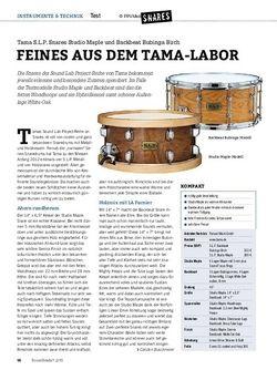 Drumheads Tama S.L.P. Snares Studio Maple und Backbeat Bubinga Birch