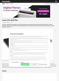 Bonedo.de Casio CTK-4400