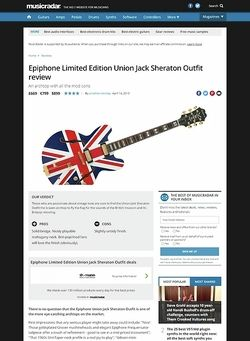 MusicRadar.com Epiphone Limited Edition Union Jack Sheraton Outfit