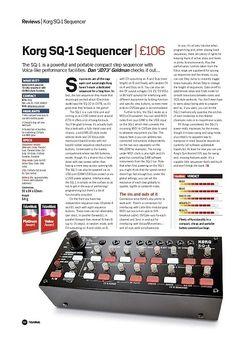 Future Music Korg SQ-1