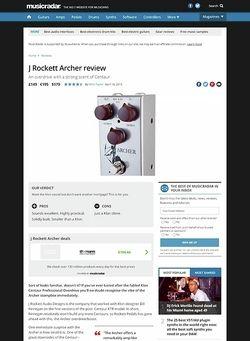 MusicRadar.com J Rockett Archer