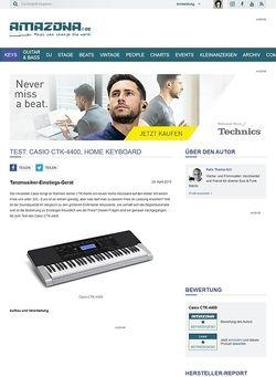 Amazona.de Test: Casio CTK-4400, Home Keyboard