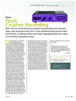 KEYS Rivera Rock Crusher Recording