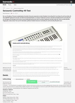 Bonedo.de Swissonic ControlKey 49