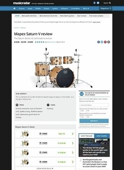 MusicRadar.com Mapex Saturn V
