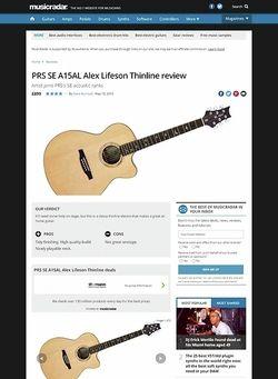 MusicRadar.com PRS SE A15AL Alex Lifeson Thinline