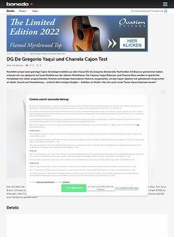 Bonedo.de DG De Gregorio Yaqui und Chanela Cajon