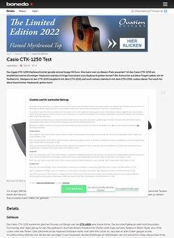Bonedo.de Casio CTK-1250