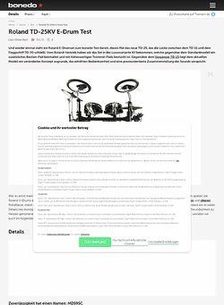 Bonedo.de Roland TD-25KV E-Drum