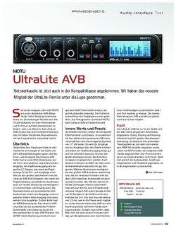 Keys Motu UltraLite AVB