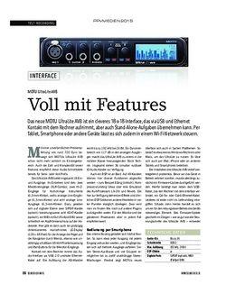Soundcheck MOTU UltraLite AVB