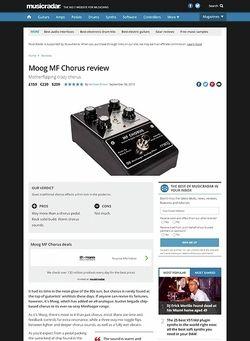 MusicRadar.com Moog MF Chorus