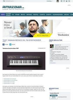 Amazona.de Test: Yamaha Reface DX, FM-Synthesizer