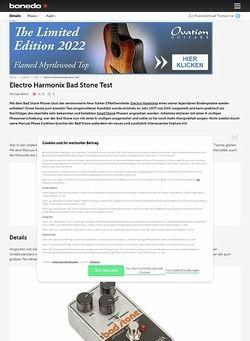 Bonedo.de Electro Harmonix Bad Stone