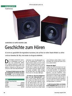 Recording Magazin Auratone 5C Super Sound Cube