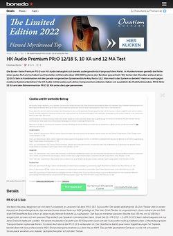 Bonedo.de HK Audio Premium PR:O 12/18 S, 10 XA und 12 MA