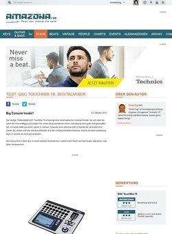 Amazona.de Test: QSC TouchMix-16, Digitalmixer