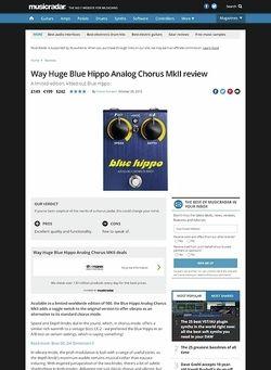 MusicRadar.com Way Huge Blue Hippo Analog Chorus MkII