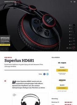 Kopfhoerer.de Superlux HD-681