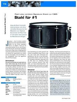 DrumHeads Test: Pearl Joey Jordison Signature Snare JJ-1365