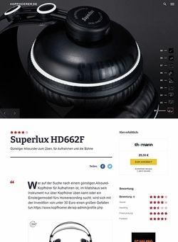 Kopfhoerer.de Superlux HD-662 F