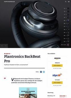 Kopfhoerer.de Plantronics BackBeat Pro